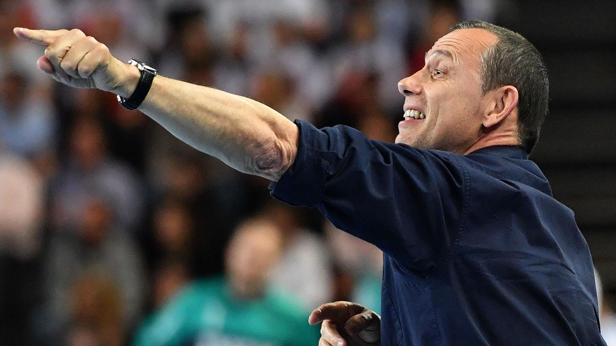 Patrice Canayer, entraîneur du Montpellier Handball