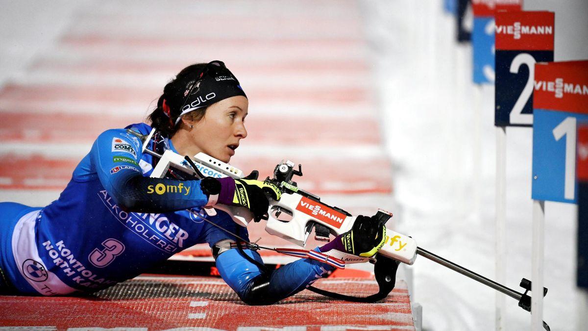 Anaïs Chevalier-Bouchet durant le sprint de Kontiolahti