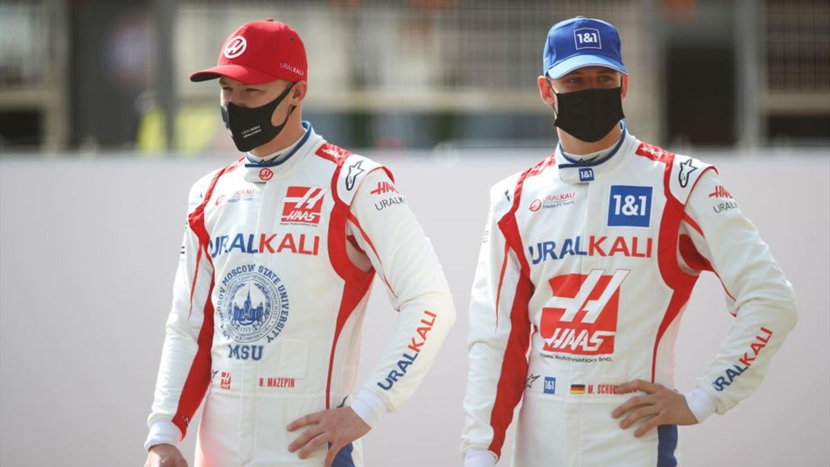 Nikita Mazepin (l.) und Mick Schumacher