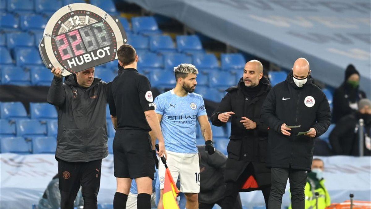Aguero e Guardiola - Manchester City - 2020