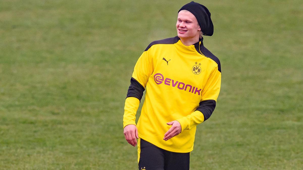 Erling Haaland im Training von Borussia Dortmund
