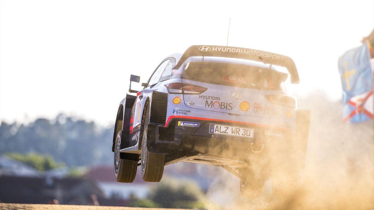 Thierry Neuville (Hyundai) lors du Rallye du Portugal