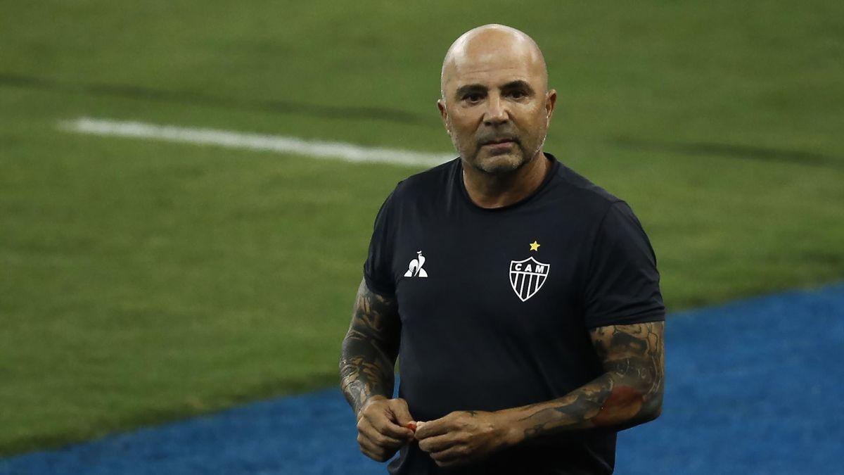 Jorge Sampaoli lors du match opposant Fluminense à l'Atlético Mineiro le 10 février 2021