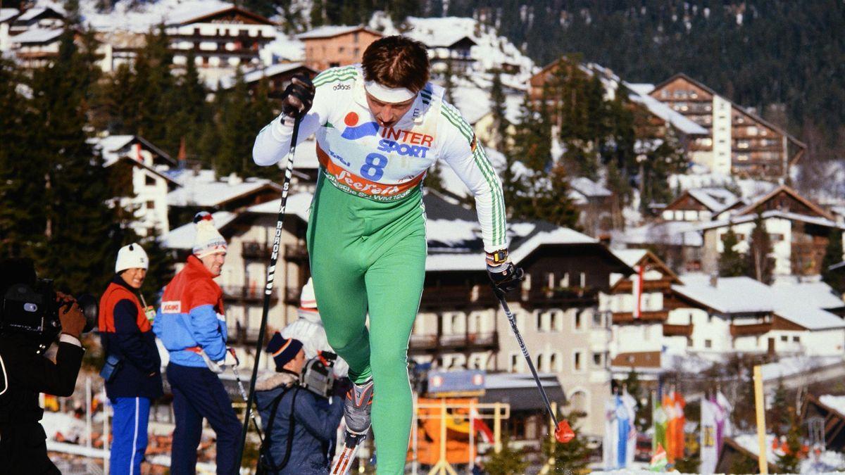 Jochen Behle bei der WM 1985 in Seefeld