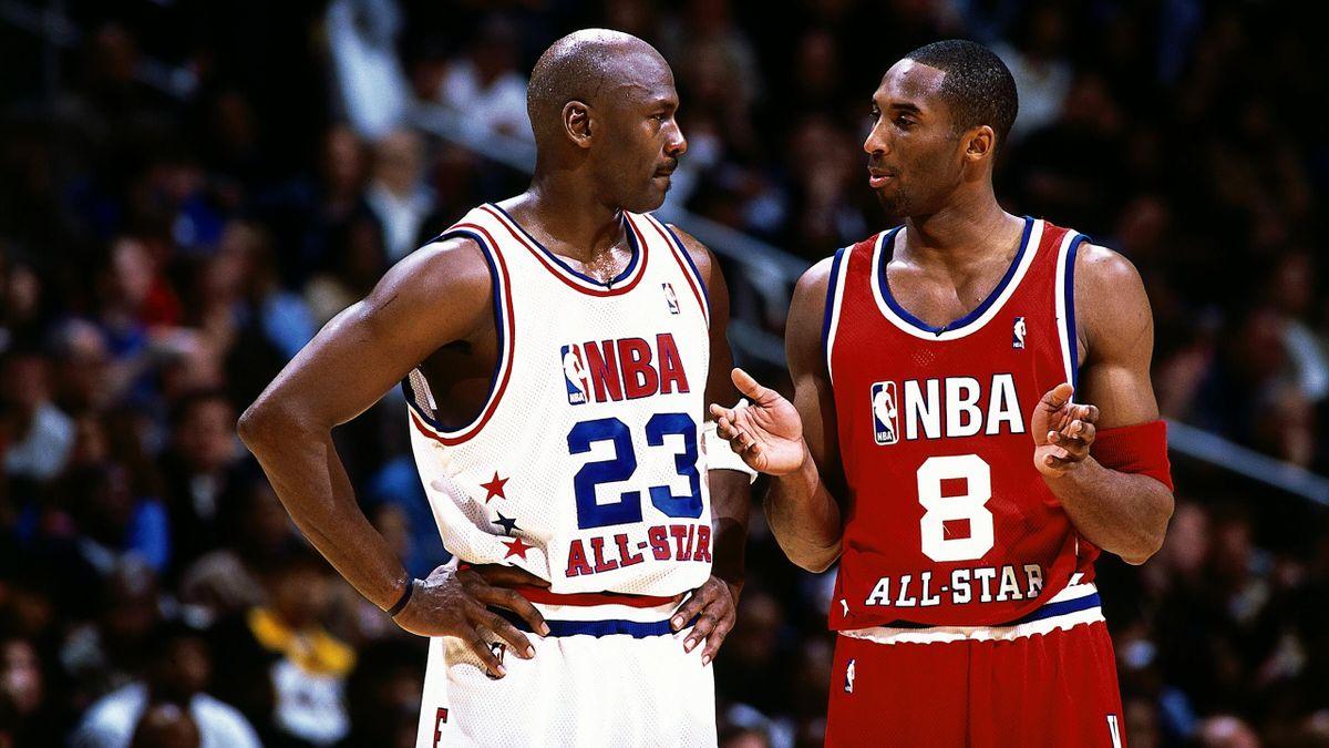 Michael Jordan és Kobe Bryant a 2003-as All Staron