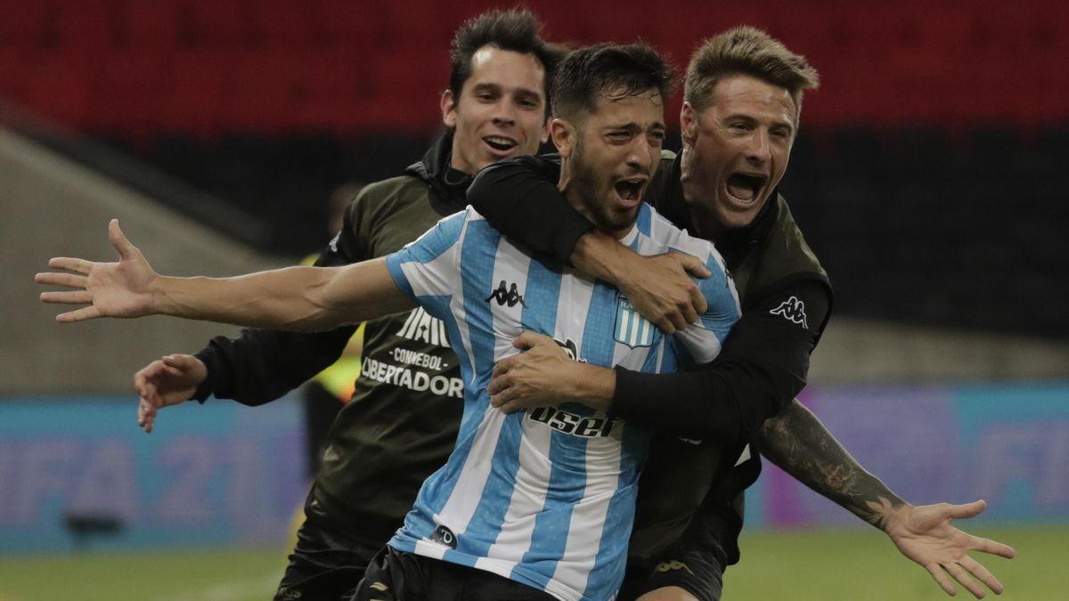 Fabricio Dominguez lors de la victoire des Argentins du Racing contre les Brésiliens de Flamengo en Copa Libertadores en 2020