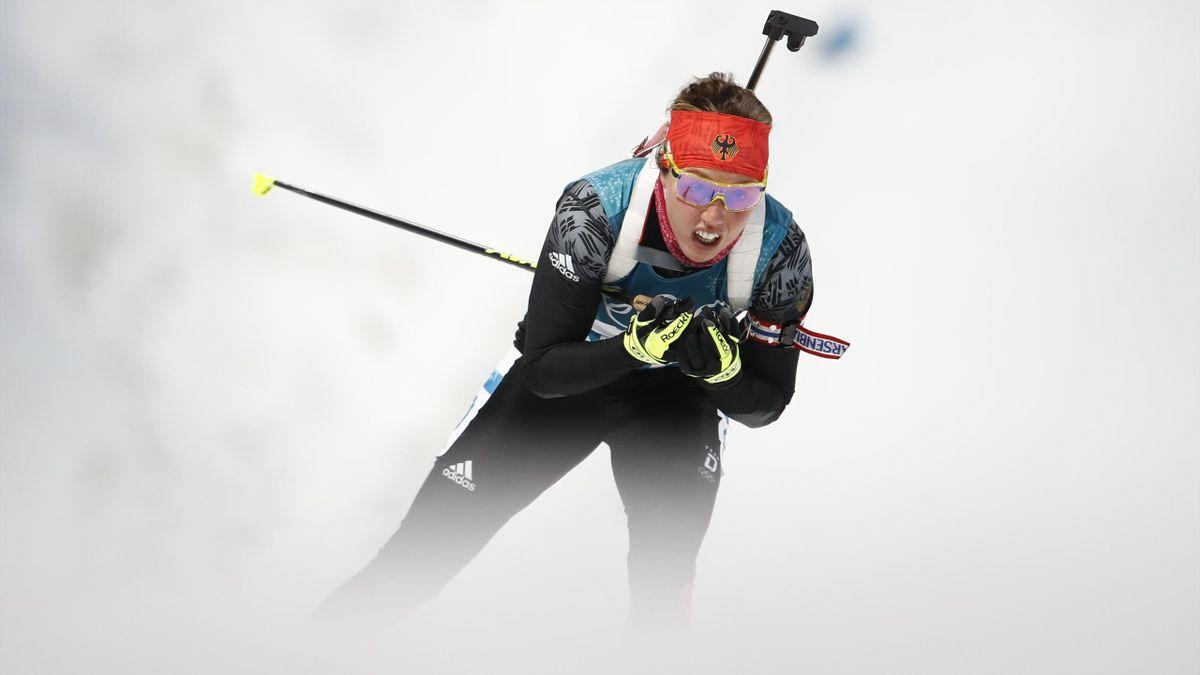 Laura Dahlmeier bei den Olympischen Spielen 2018 in Pyeongchang