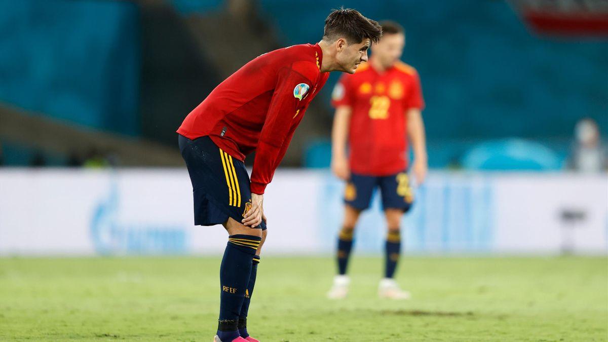 Alvaro Morata lors du match opposant l'Espagne à la Pologne, le 19 juin 2021, à l'Euro 2020