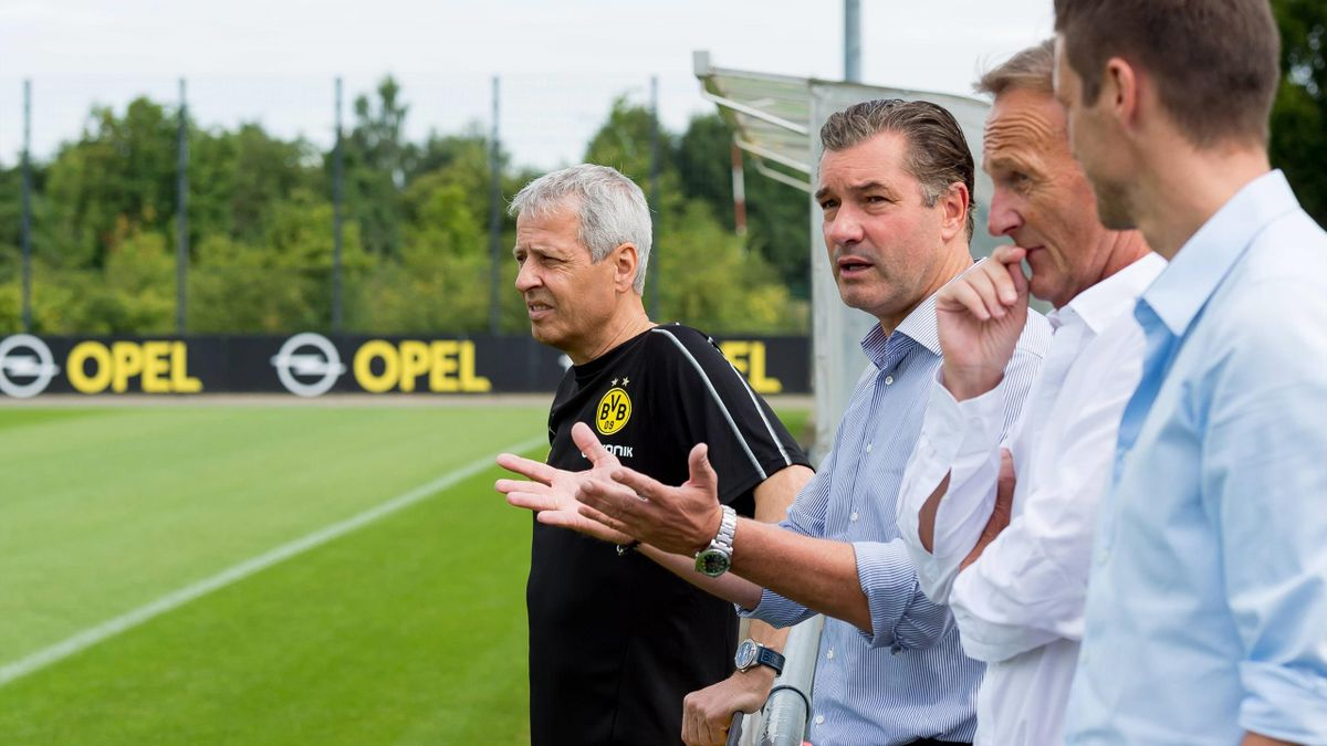 Borussia Dortmund: Favre, Zorc, Watzke, Kehl (v.l.n.r.)