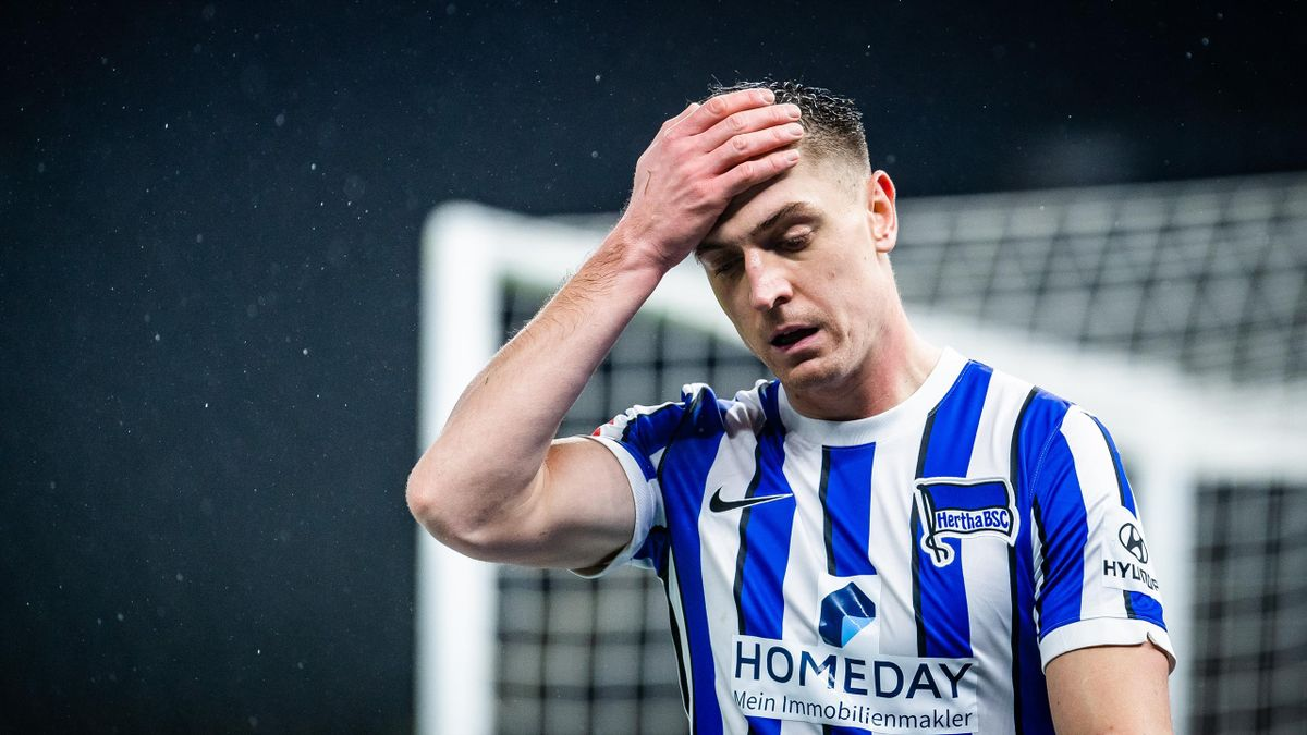 Hertha-Stürmer Krzysztof Piatek spielt diese Saison wohl gegen den Abstieg