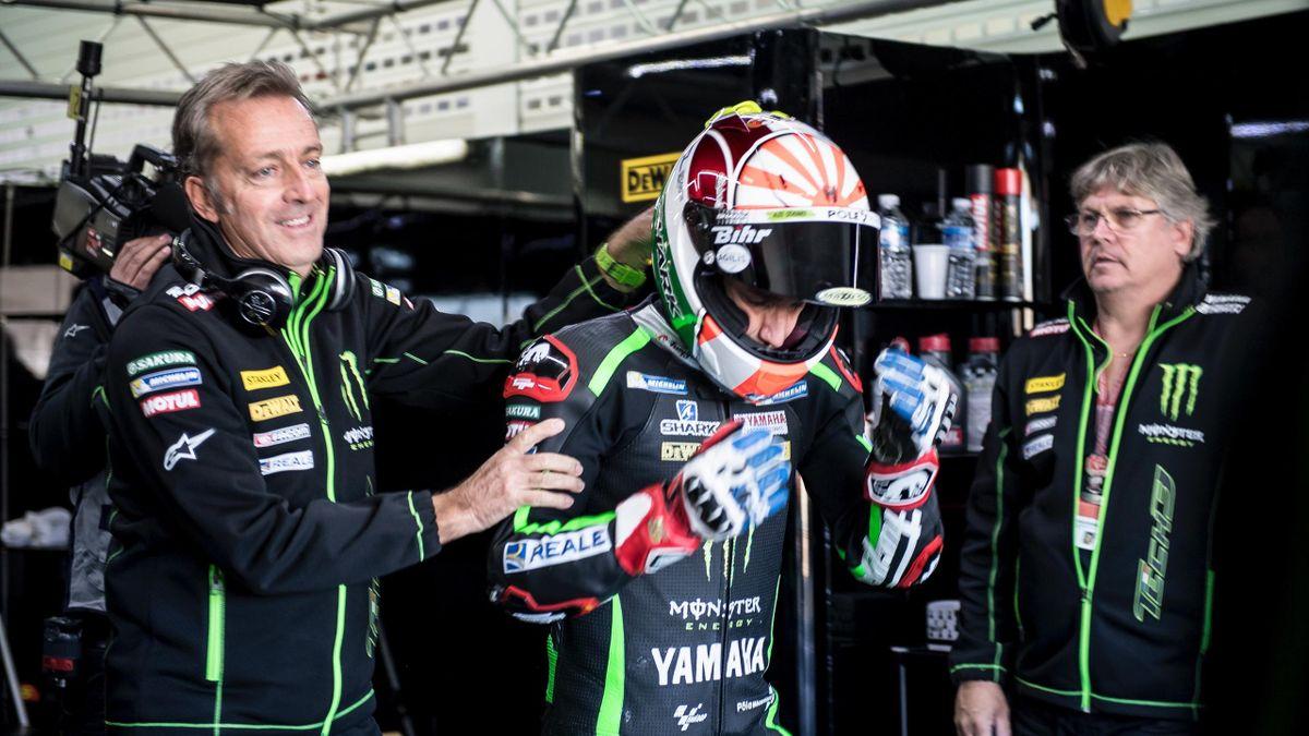 Hervé Poncharal, Johann Zarco (Yamaha Tech3) - Tests Cheste 2016