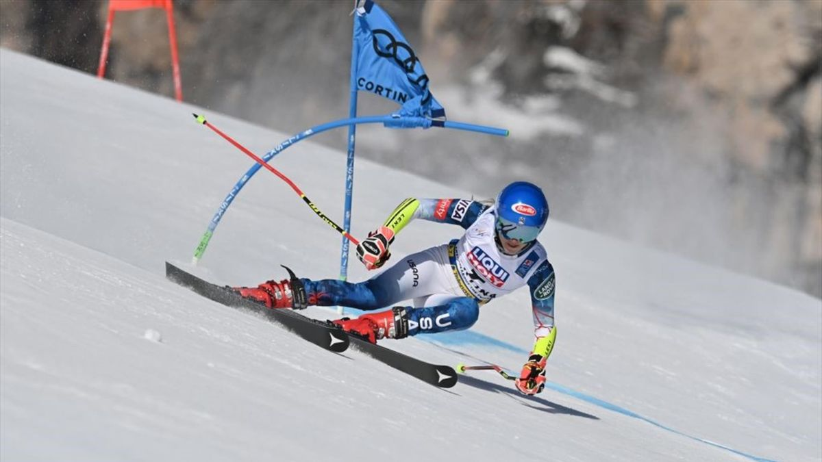 Mikaela Shiffrin beim WM-Riesenslalom in Cortina d'Ampezzo
