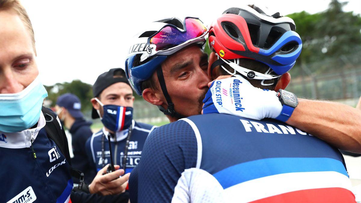 Julian Alaphilippe remercie ses partenaires après son titre mondial