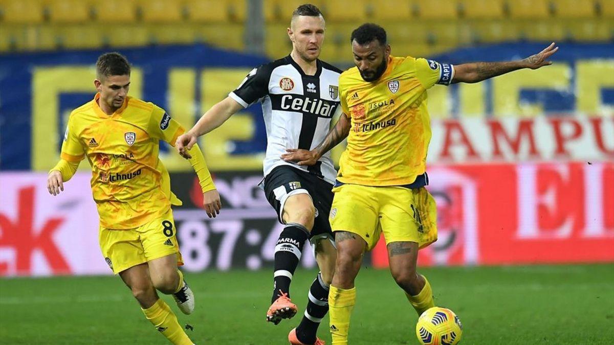 Joao Pedro, Kurtic - Parma-Cagliari - Serie A 2020/2021 - Getty Images