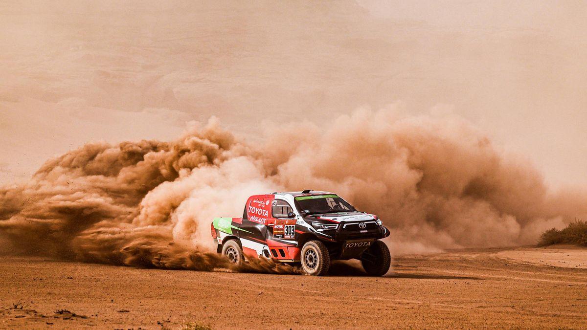 Yazeed Al Rajhi mit Co-Pilot Dirk von Zitzewitz bei der Rallye Dakar 2021