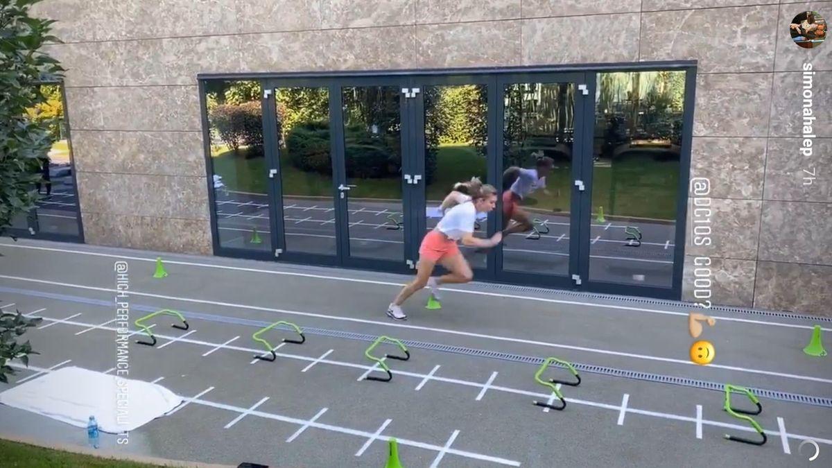 Simona Halep, pregătiri intense pentru revenirea în circuit