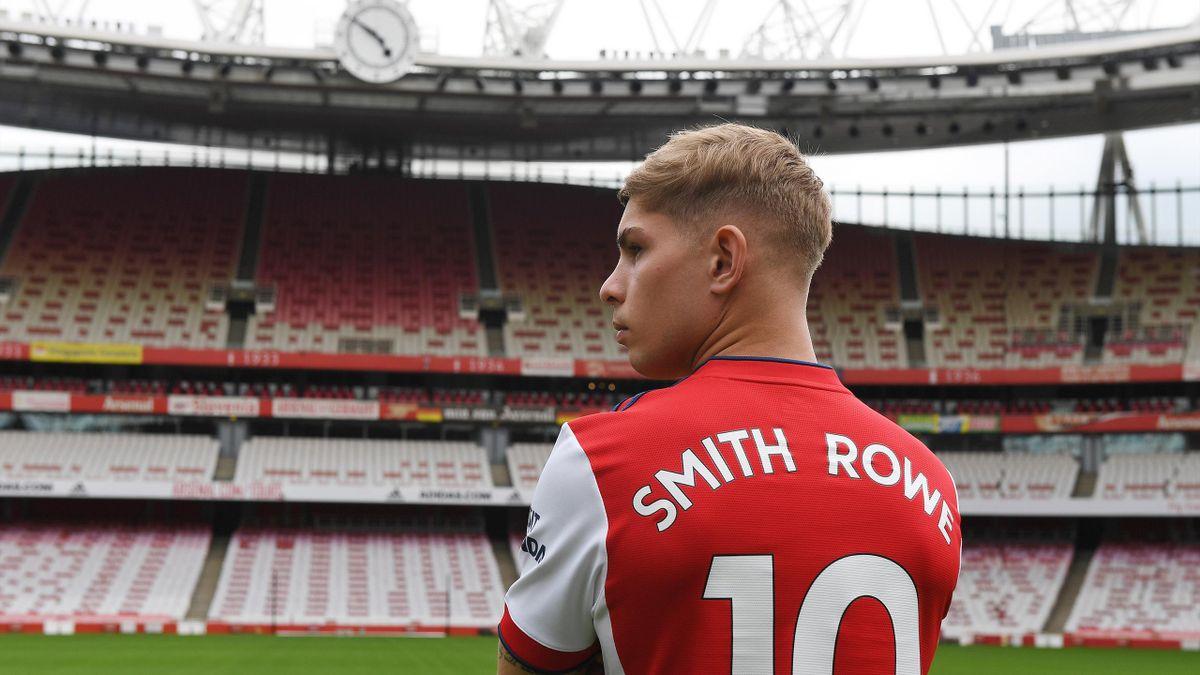 LONDON, ENGLAND - JULY 22: Arsenal's Emile Smith Rowe at Emirates Stadium on July 22, 2021 in London, England.