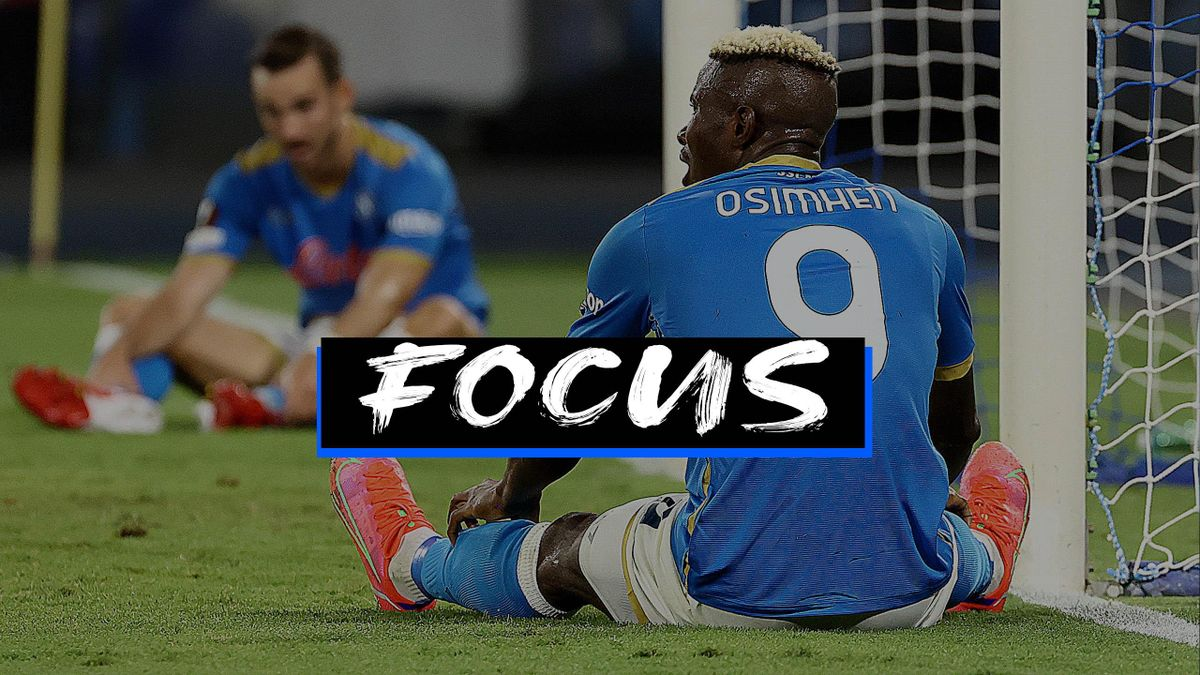La delusione di Victor Osimhen e Fabian Ruiz per la sconfitta inattesa contro lo Spartak Mosca