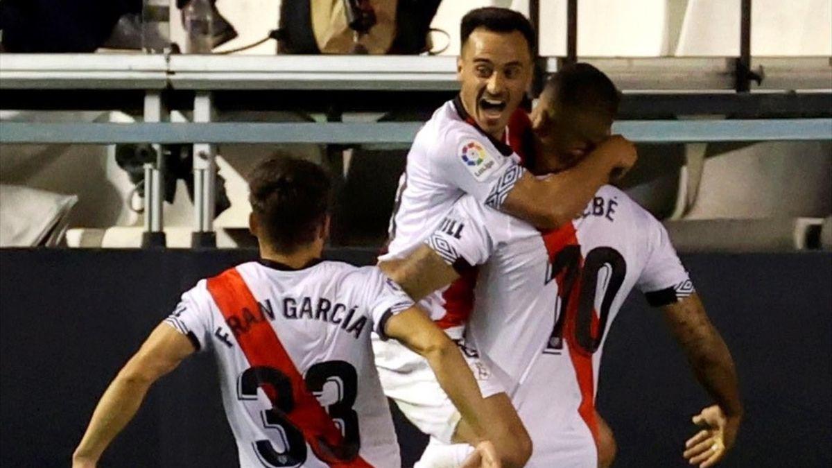 Jugadores del Rayo celebran un gol ante el Leganés