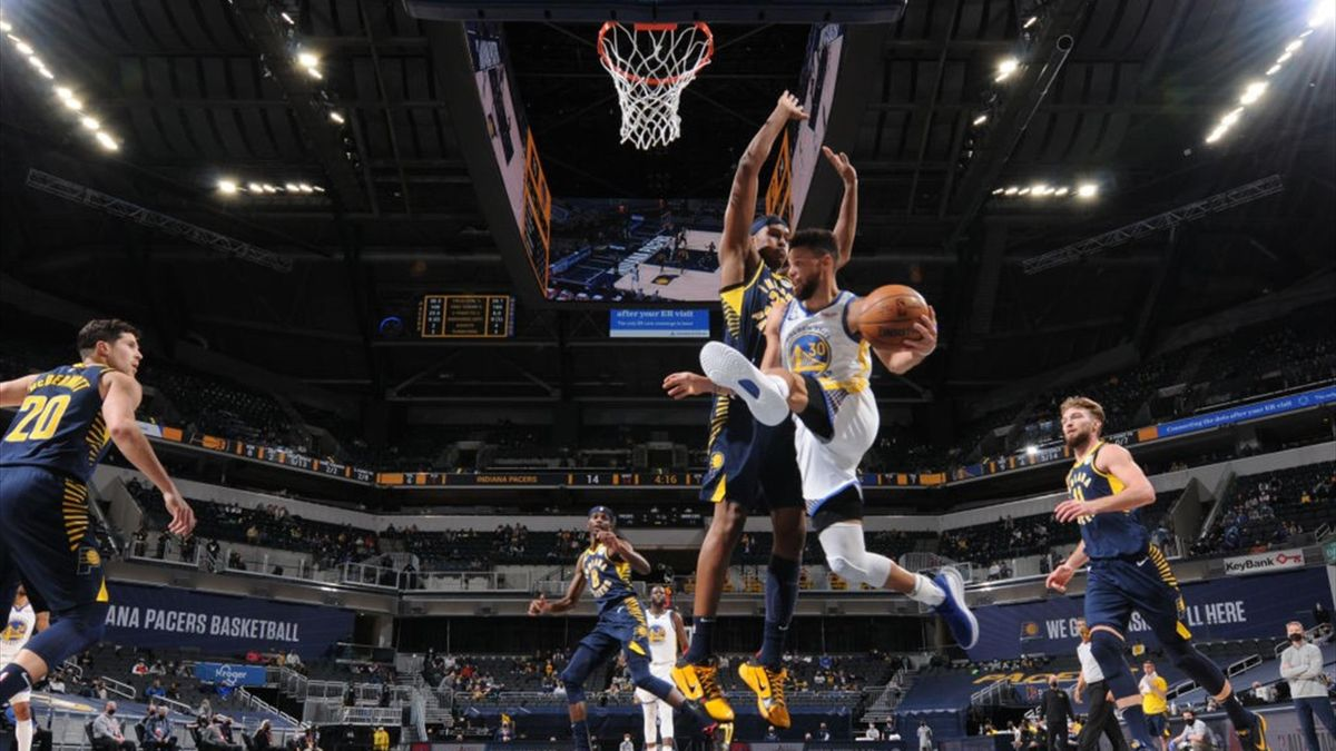 Stephen Curry, Indiana Pacers 107-111 Golden State Warriors
