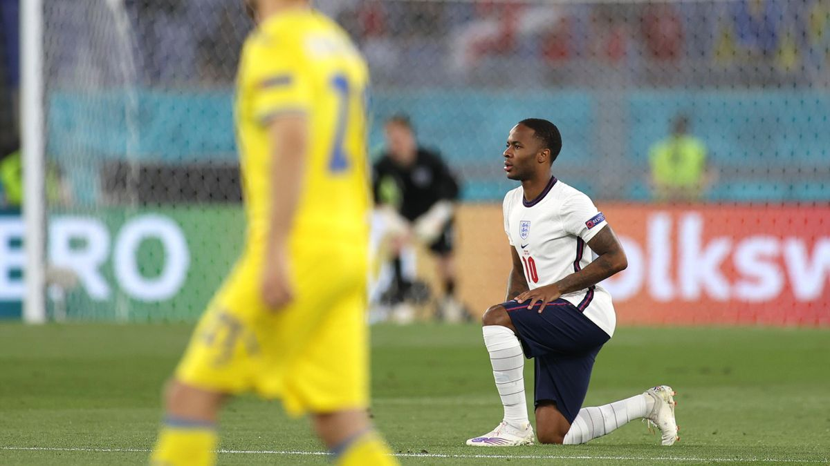 Sterling takes the knee