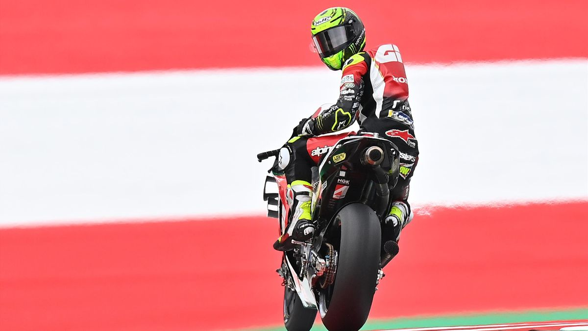 Cal Crutchlow (Honda LCR) lors des essais du Grand Prix d'Autriche, le 14 août 2020