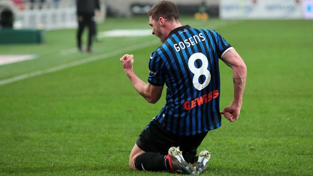 Robin Gosens esulta per un gol in Atalanta-Torino - Serie A 2020/2021 - Getty Images