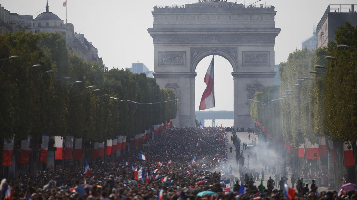 500,000 fans lined the Champs-Elysees to welcome home the world champions
