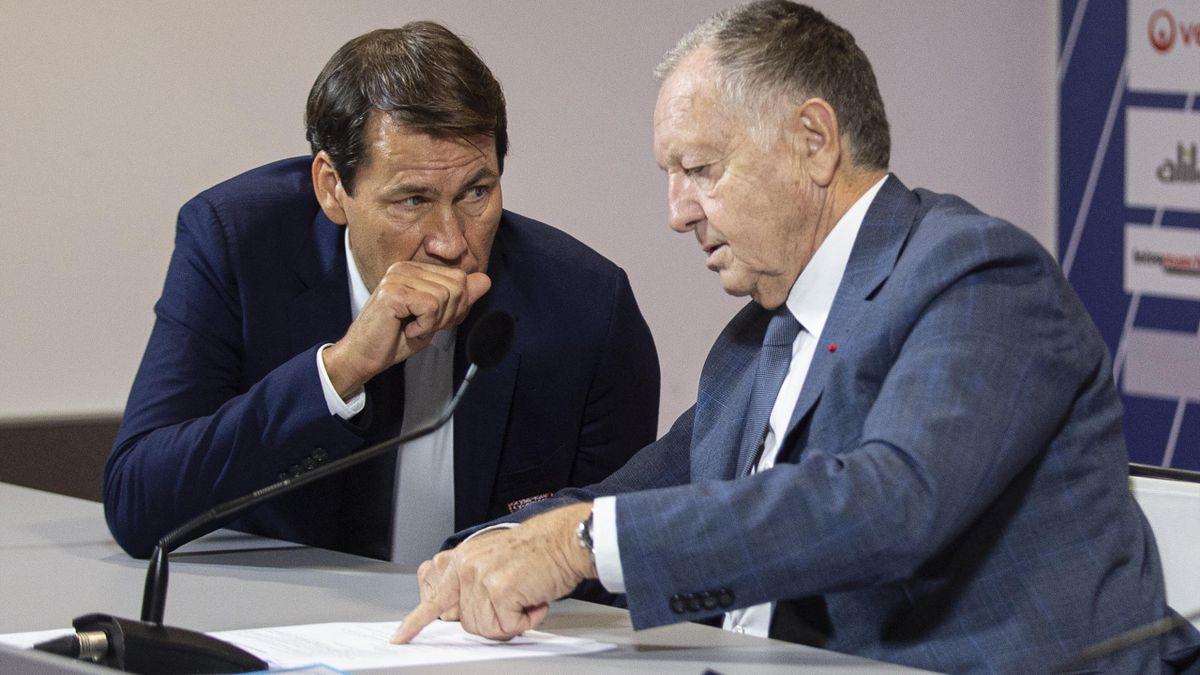 Rudi Garcia et Jean-Michel Aulas.