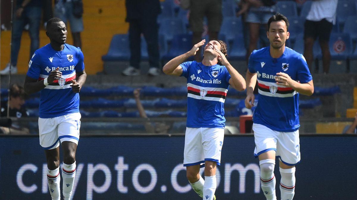 Augello equalises for Sampdoria