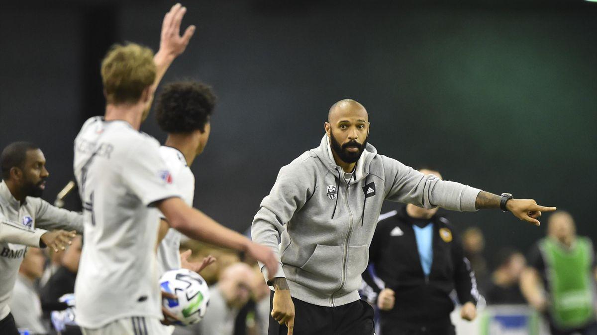 Thierry Henry, entraîneur de l'Impact de Montréal