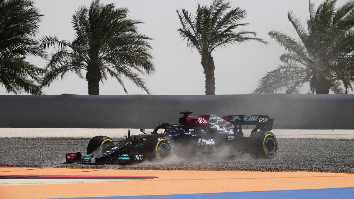 Lewis Hamilton (Mercedes) in Bahrain