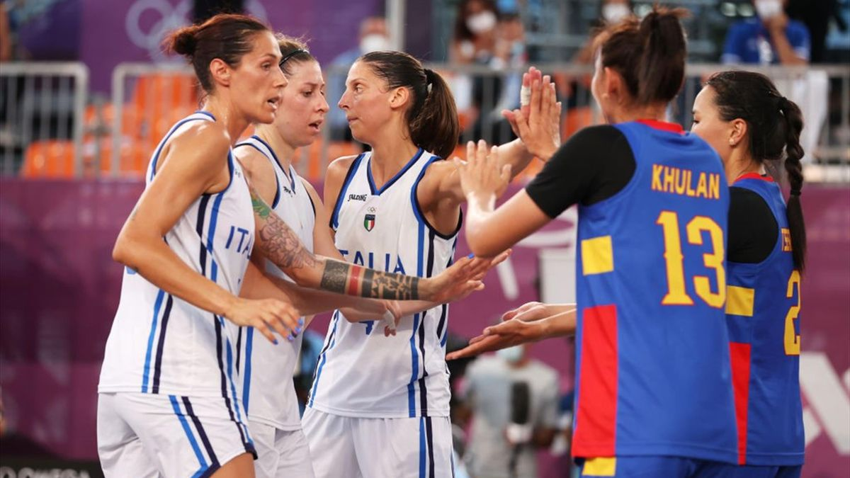 Italia-Mongolia - 3x3 femminile Tokyo 2020