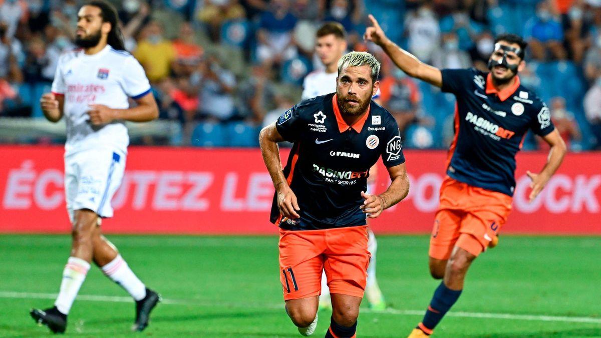 Téji Savanier (Montpellier) contre Lyon - Ligue 1