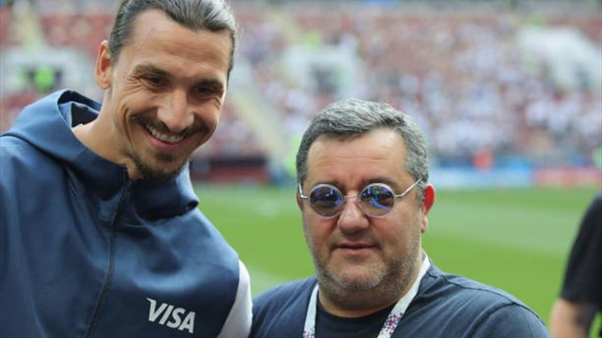 Zlatan Ibrahimovic și agentul său, Mino Raiola