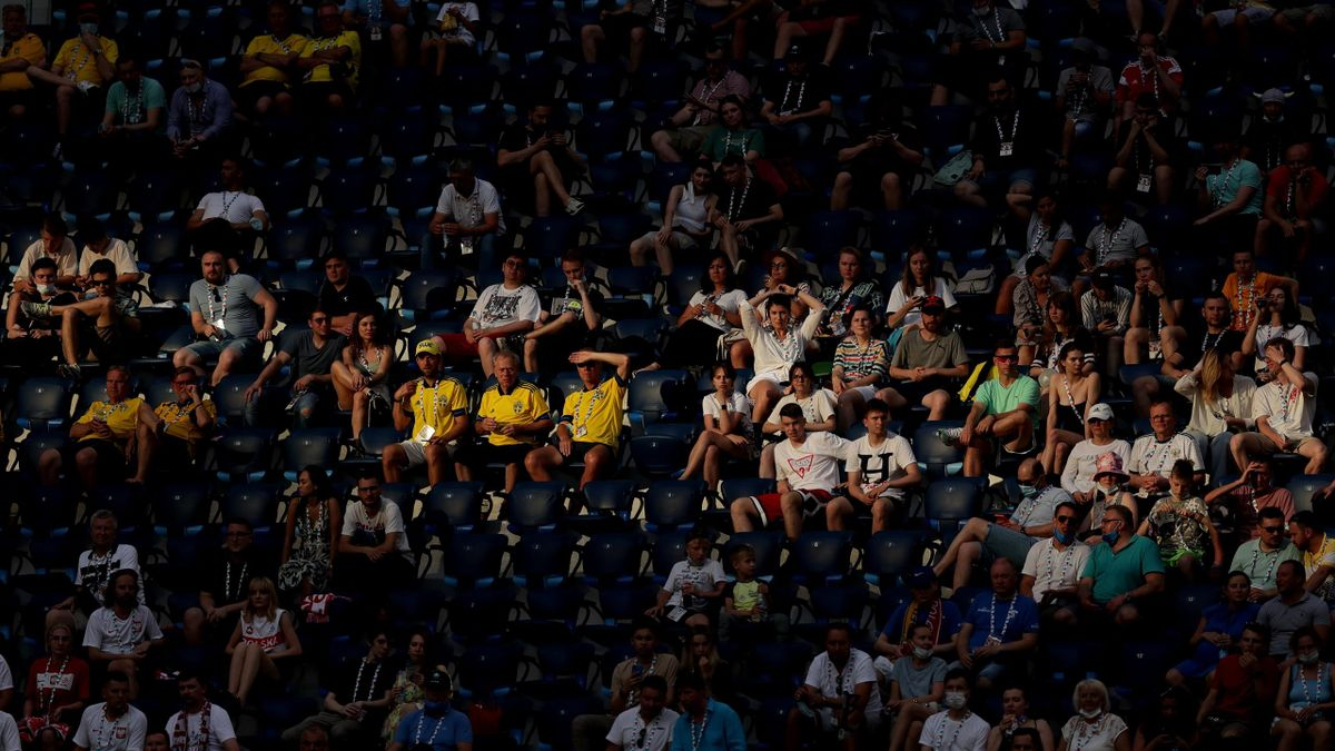 Fans in St. Petersburg beim Spiel Schweden gegen Polen