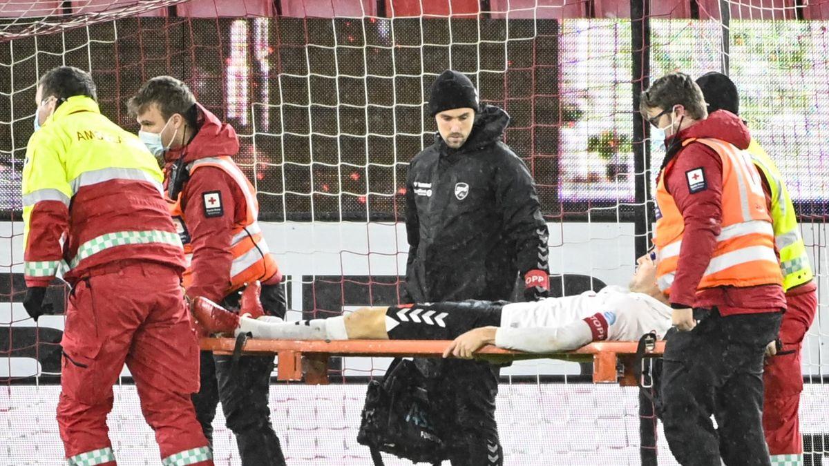 Espen Ruud måtte ut på båre under kampen mot Brann.