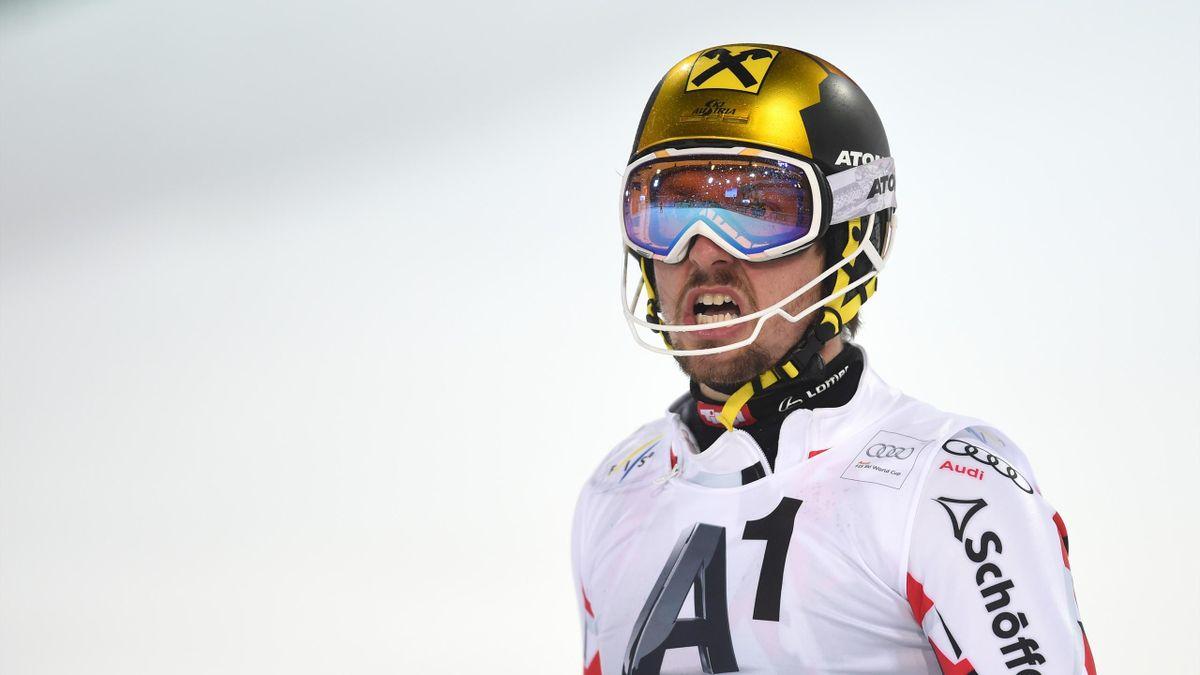 Marcel Hirscher au slalom de Schladming le 26 janvier 2016