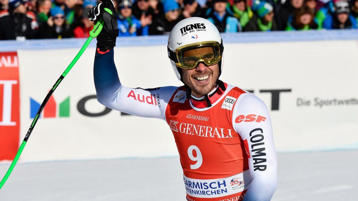 Johan Clarey 3e de la descente à Garmisch le 1er février 2020