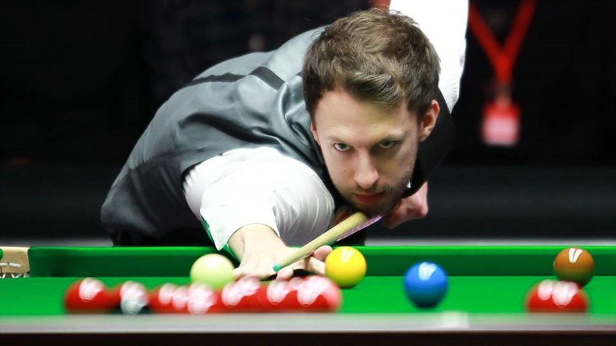 Judd Trump in action at The Masters (Pic: World Snooker)