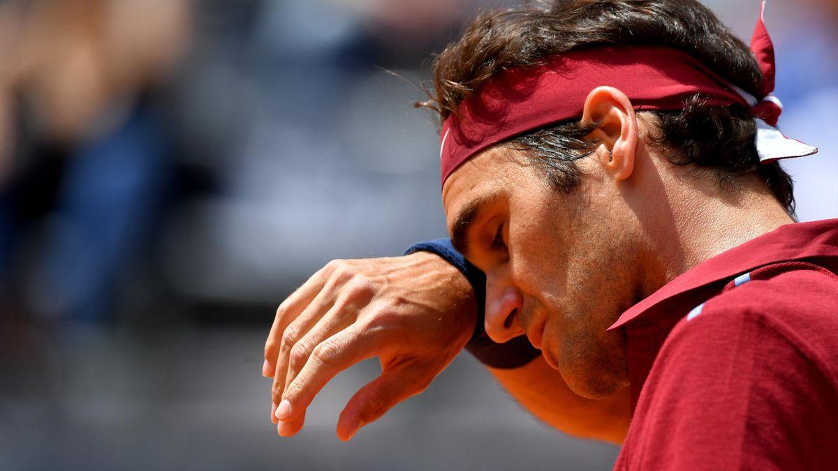 Roger Federer battu par Dominic Thiem au Masters 1000 de Rome le 12 mai 2016