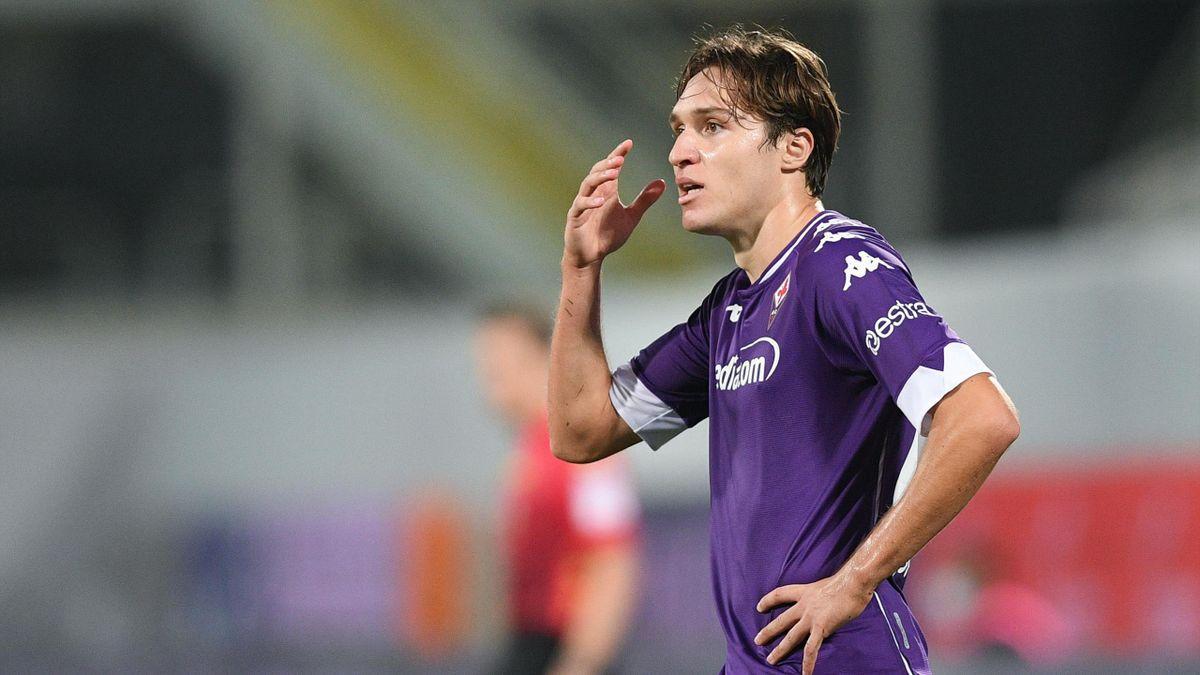 Federico Chiesa (Fiorentina), Fiorentina-Torino 2020-2021 (Getty Images)