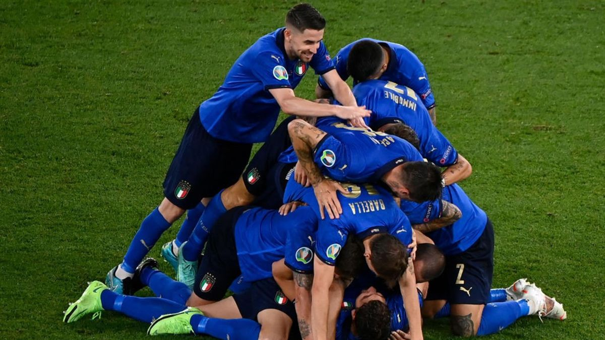 Italia-Svizzera, esultanza azzurra