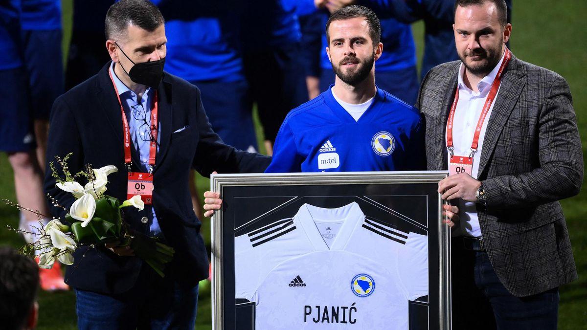 Miralem Pjanic fête ce mercredi sa 100e sélection face à la France.