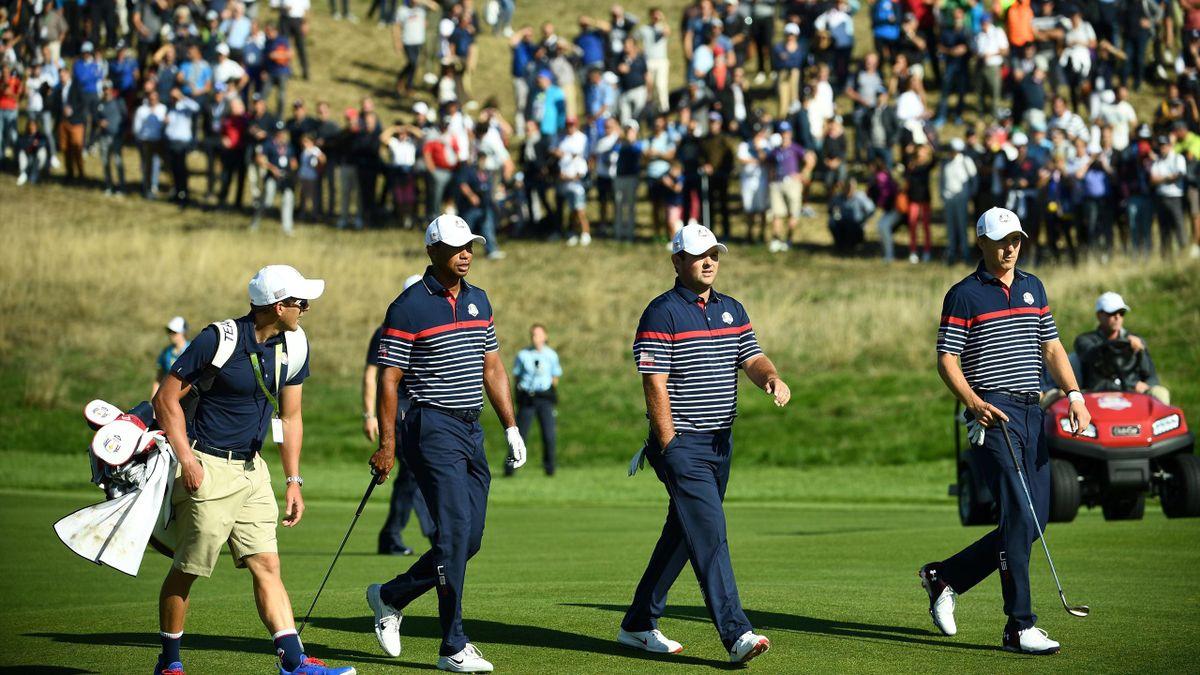 Tiger Woods, Patrick Reed, Jordan Spieth