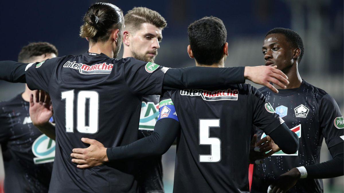 Lille s'est qualifié en huitièmes de finale de Coupe de France après son succès sur le terrain du Gazelec Ajaccio.