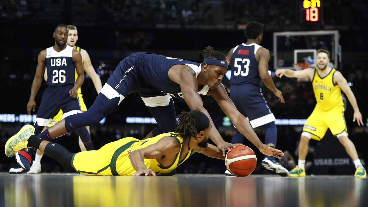 Australia-Team USA, Patty Mills, Myles Turner, 2019