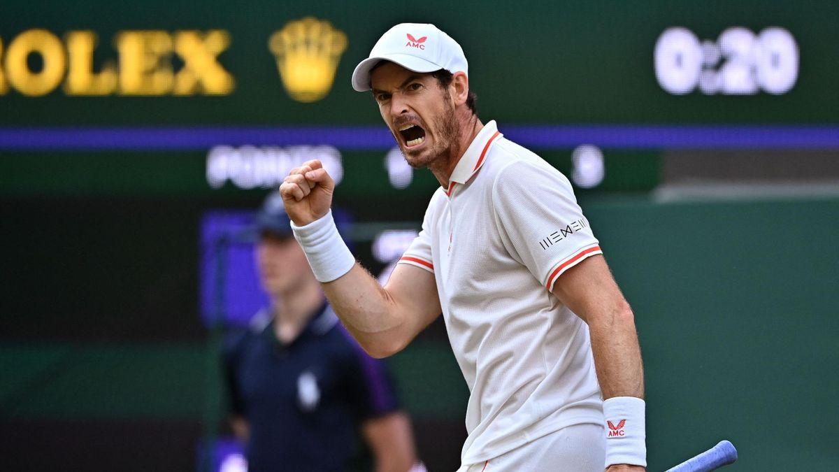 Andy Murray lors du 2e tour de Wimbledon contre Oscar Otte, le 30 juin 2021