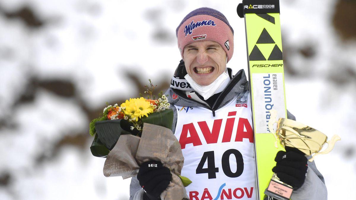 Karl Geiger überzeugte zuletzt als Dritter in Rasnov