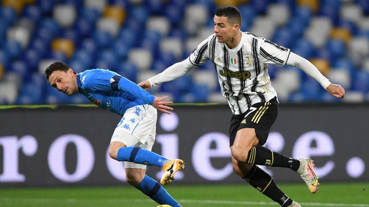 Mario Rui e Cristiano Ronaldo - Napoli-Juventus Serie A 2020-21